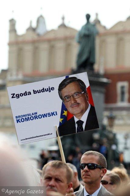 Bronislaw Komorowski w Krakowie