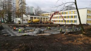 Budowa sali gimnastycznej os. Podwawelskie
